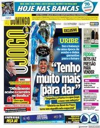 capa Jornal O Jogo de 9 agosto 2020