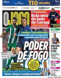 capa Jornal O Jogo de 21 agosto 2020