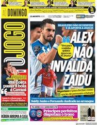 capa Jornal O Jogo de 23 agosto 2020