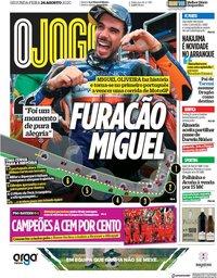 capa Jornal O Jogo de 24 agosto 2020