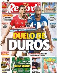 capa Jornal Record de 1 agosto 2020