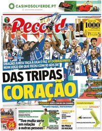 capa Jornal Record de 2 agosto 2020