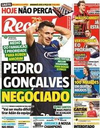 capa Jornal Record de 12 agosto 2020