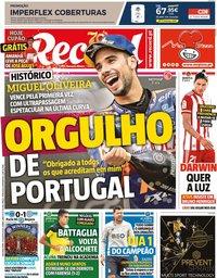 capa Jornal Record de 24 agosto 2020