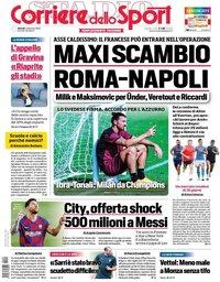 capa Corriere dello Sport de 1 setembro 2020