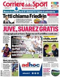 capa Corriere dello Sport de 2 setembro 2020