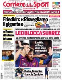 capa Corriere dello Sport de 4 setembro 2020