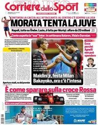 capa Corriere dello Sport de 6 setembro 2020