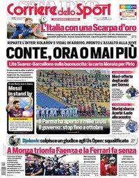capa Corriere dello Sport de 7 setembro 2020
