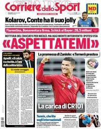capa Corriere dello Sport de 9 setembro 2020