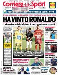 capa Corriere dello Sport de 10 setembro 2020