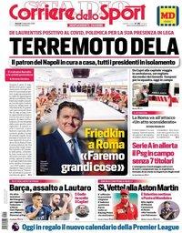 capa Corriere dello Sport de 11 setembro 2020
