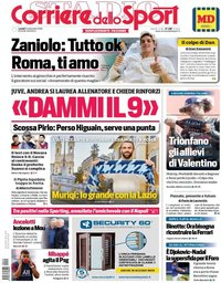 capa Corriere dello Sport de 14 setembro 2020