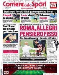 capa Corriere dello Sport de 24 setembro 2020