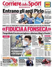 capa Corriere dello Sport de 26 setembro 2020