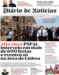 capa Diário de Notícias de 1 setembro 2020