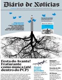 capa Diário de Notícias de 2 setembro 2020