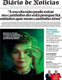 capa Diário de Notícias de 3 setembro 2020