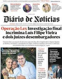 capa Diário de Notícias de 5 setembro 2020