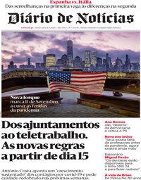 capa Diário de Notícias de 11 setembro 2020