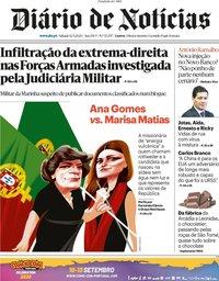 capa Diário de Notícias de 12 setembro 2020