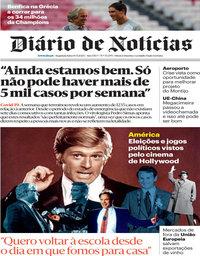 capa Diário de Notícias de 14 setembro 2020
