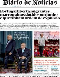 capa Diário de Notícias de 16 setembro 2020