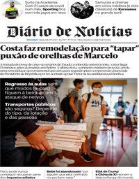 capa Diário de Notícias de 17 setembro 2020