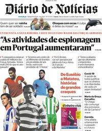 capa Diário de Notícias de 19 setembro 2020