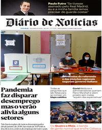 capa Diário de Notícias de 22 setembro 2020