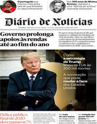 capa Diário de Notícias de 23 setembro 2020