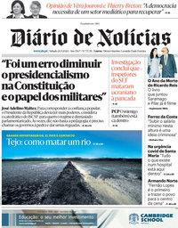 capa Diário de Notícias de 26 setembro 2020