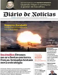capa Diário de Notícias de 28 setembro 2020