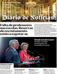 capa Diário de Notícias de 29 setembro 2020