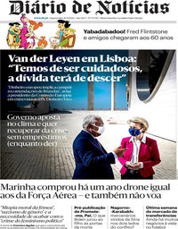 capa Diário de Notícias de 30 setembro 2020