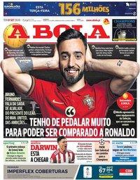 capa Jornal A Bola de 1 setembro 2020