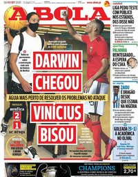 capa Jornal A Bola de 3 setembro 2020