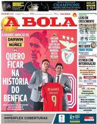 capa Jornal A Bola de 5 setembro 2020