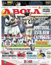 capa Jornal A Bola de 6 setembro 2020