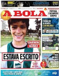 capa Jornal A Bola de 7 setembro 2020
