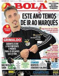 capa Jornal A Bola de 12 setembro 2020