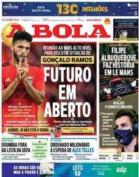 capa Jornal A Bola de 21 setembro 2020