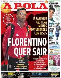 capa Jornal A Bola de 22 setembro 2020