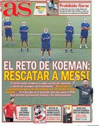 capa Jornal As de 6 setembro 2020