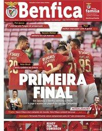 capa Jornal Benfica de 11 setembro 2020