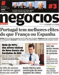 capa Jornal de Negócios de 2 setembro 2020