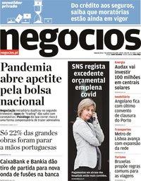 capa Jornal de Negócios de 7 setembro 2020