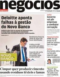 capa Jornal de Negócios de 9 setembro 2020
