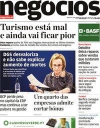 capa Jornal de Negócios de 10 setembro 2020