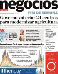 capa Jornal de Negócios de 11 setembro 2020